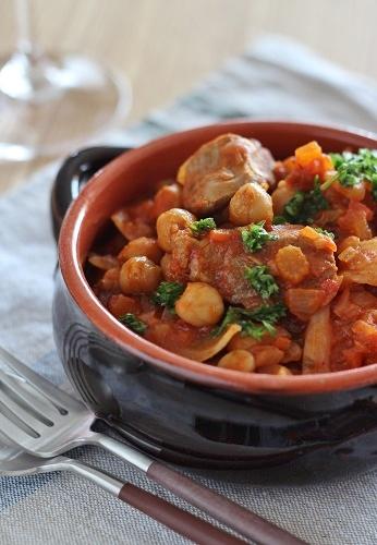 ラムとひよこ豆のチリトマト煮