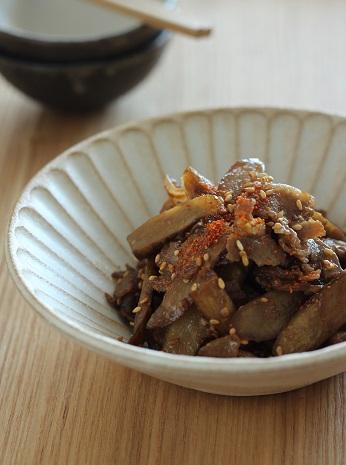 牛蒡と豚バラの炒め物