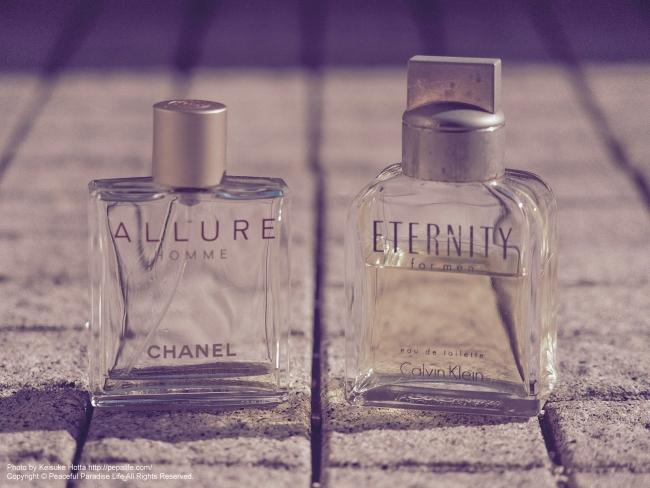 カルバン・クライン エタニティー(Calvin Klein ETETNITY for men)とシャネル アリュール(CHANEL ALLURE)