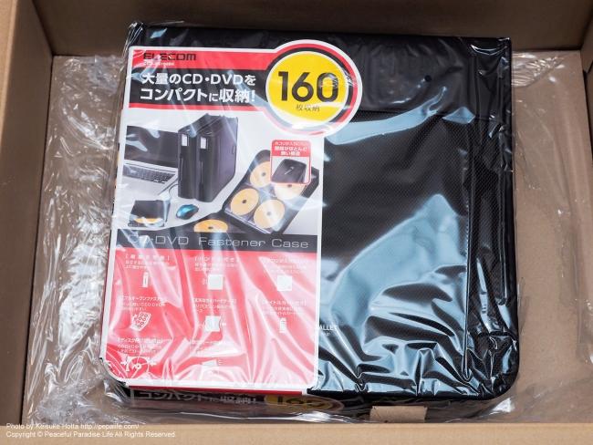 ELECOM CD/DVDウィレット ファスナー付き 160枚収納 CCD-SS160BK
