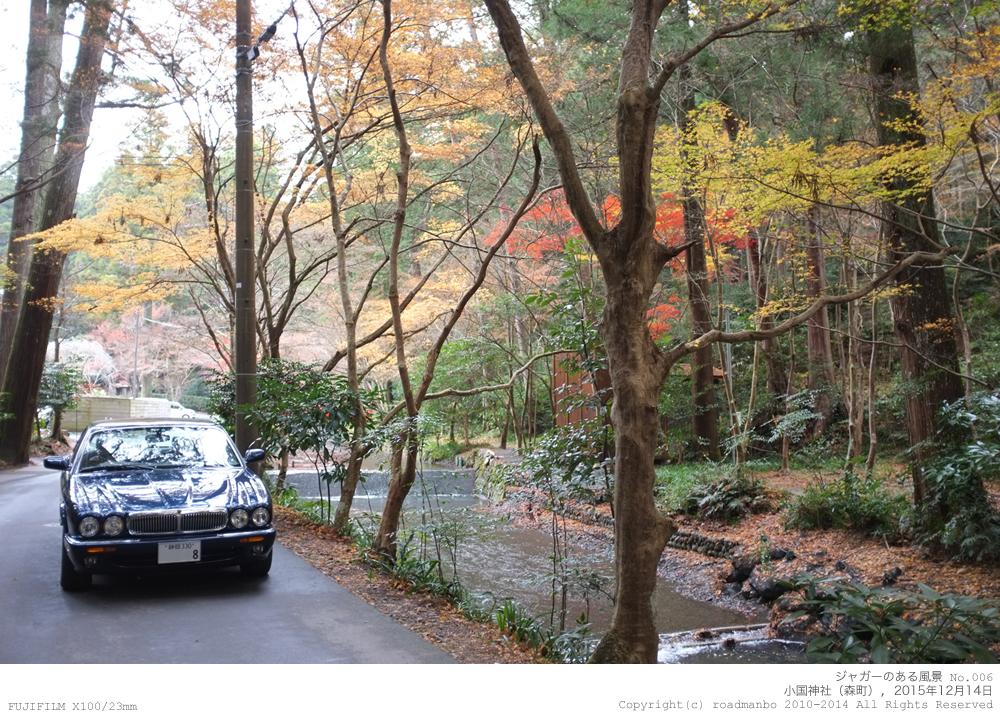 ジャガーのある風景 #006:小国神社(森町)