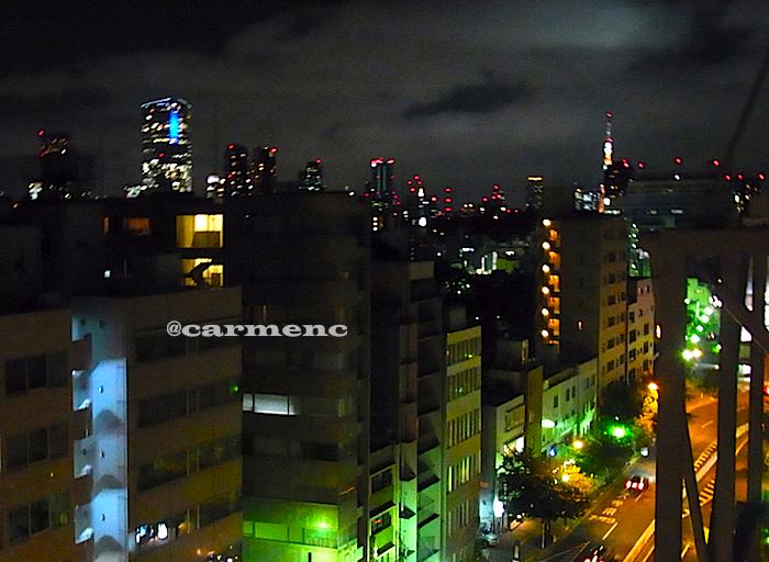 六本木ヒルズとタワーの夜