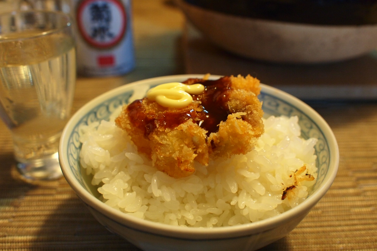 串カツのせご飯