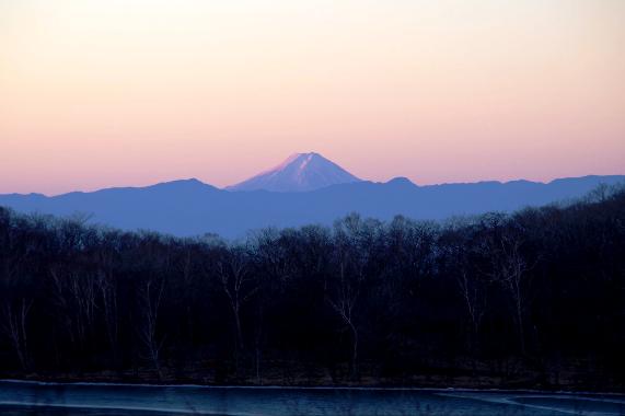 小沼より富士山